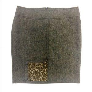 Express Gray Cheetah Tube/ Pencil Skirt